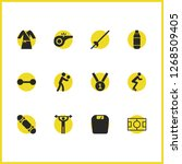 activity icons set with...