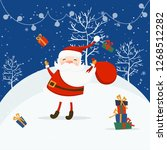 merry christmas and happy new... | Shutterstock .eps vector #1268512282