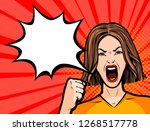 woman protesting fist. protest  ...   Shutterstock .eps vector #1268517778