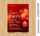 beautiful merry christmas party ... | Shutterstock .eps vector #1268551405