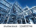 refinery pipelines... | Shutterstock . vector #126855746
