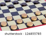 checkers board game | Shutterstock . vector #126855785