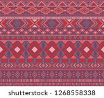 navajo american indian pattern... | Shutterstock .eps vector #1268558338