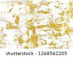 gold splashes texture. brush... | Shutterstock . vector #1268562205
