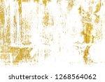 gold splashes texture. brush... | Shutterstock . vector #1268564062