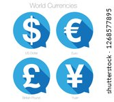 world currencies sign symbol... | Shutterstock .eps vector #1268577895