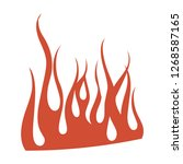 minimalistic burning red fire... | Shutterstock .eps vector #1268587165