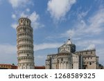 view of the leaning tower of... | Shutterstock . vector #1268589325