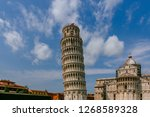 view of the leaning tower of... | Shutterstock . vector #1268589328