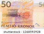 50 swedish kronor bank note.... | Shutterstock . vector #1268592928