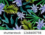 colourful seamless pattern with ... | Shutterstock . vector #1268600758