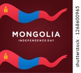 mongolia independence day... | Shutterstock .eps vector #1268600965