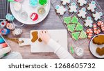 flat lay. step by step.... | Shutterstock . vector #1268605732