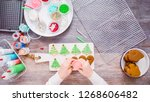 flat lay. step by step.... | Shutterstock . vector #1268606482
