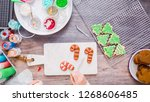 flat lay. step by step.... | Shutterstock . vector #1268606485