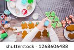 flat lay. step by step.... | Shutterstock . vector #1268606488