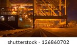 container terminal at night | Shutterstock . vector #126860702