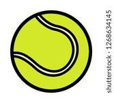 cartoon tennis ball icon