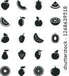solid black vector icon set  ... | Shutterstock .eps vector #1268639518