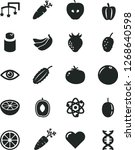 solid black vector icon set  ... | Shutterstock .eps vector #1268640598