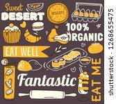 restaurant background with... | Shutterstock .eps vector #1268655475