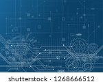 abstract technology background. ... | Shutterstock .eps vector #1268666512