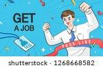 get a jop illustration | Shutterstock .eps vector #1268668582