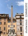 obelisk in pantheon square  ... | Shutterstock . vector #1268682352