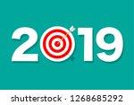 hitting the target   Shutterstock .eps vector #1268685292