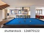 modern loft  room with billiard | Shutterstock . vector #126870122