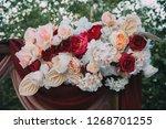 wedding decor. bouquet. flowers ... | Shutterstock . vector #1268701255