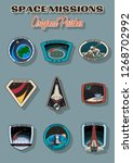 space missions vector patches ... | Shutterstock .eps vector #1268702992