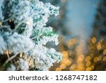 close up of a christmas tree... | Shutterstock . vector #1268747182