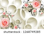 3d abstract flower with pattern ...   Shutterstock . vector #1268749285