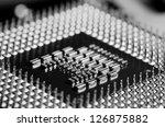 circuit board of laptop CPU - stock photo