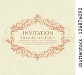 invitation or wedding card with ... | Shutterstock .eps vector #126876092