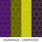 olive  purple color set of... | Shutterstock .eps vector #1268761522