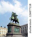 the statue of godfrey of... | Shutterstock . vector #126877118