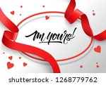 i am yours lettering in oval... | Shutterstock .eps vector #1268779762