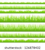 silhouette of seamless grass | Shutterstock . vector #126878432