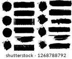 big set of grunge paint stripes ... | Shutterstock .eps vector #1268788792