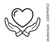 heart icon vector. perfect love ... | Shutterstock .eps vector #1268794912