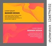 banner background design.... | Shutterstock . vector #1268796532