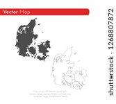 vector map denmark. isolated... | Shutterstock .eps vector #1268807872