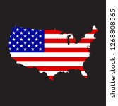 map of america with an official ...   Shutterstock .eps vector #1268808565