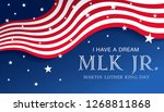 martin luther king day banner... | Shutterstock .eps vector #1268811868