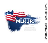 martin luther king day banner... | Shutterstock .eps vector #1268811898