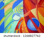 abstract texture. oil  acrylic... | Shutterstock . vector #1268827762