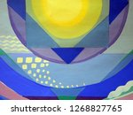 abstract texture. oil  acrylic... | Shutterstock . vector #1268827765