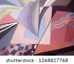 abstract texture. oil  acrylic... | Shutterstock . vector #1268827768